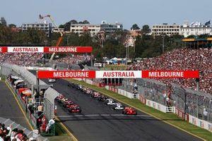 Startaufstellung zum GP Australien 2007 in Melbourne