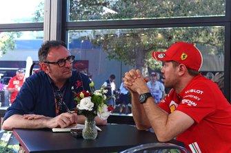 Roberto Chinchero, Motorsport.com Italia, con Sebastian Vettel, Ferrari