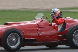 Fernando Alonso au volant de la Ferrari 375