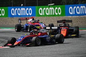 Devlin DeFrancesco, Trident leads Richard Verschoor, MP Motorsport and Oliver Caldwell, Trident