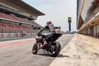Xavi Vierge training Circuit Barcelona