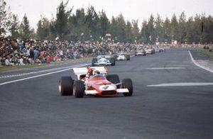 Clay Regazzoni, Ferrari 312B leads Jean-Pierre Beltoise, Matra MS120
