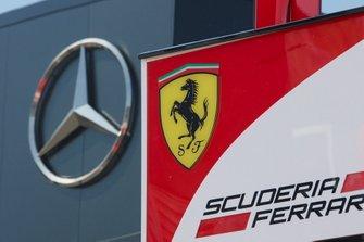 Mercedes and Ferrari motorhomes