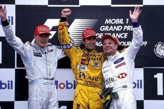 Heinz-Harald Frentzen, Jordan, Mika Hakkinen, McLaren, Rubens Barrichello, Stewart