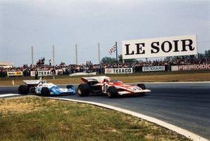 Clay Regazzoni, Ferrari 312B2, Chris Amon, Matra MS120C