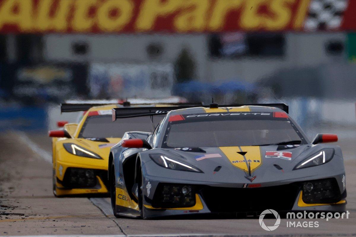 #4 Corvette Racing Corvette C8.R, GTLM: Oliver Gavin, Tommy Milner, #3 Corvette Racing Corvette C8.R, GTLM: Antonio Garcia, Jordan Taylor