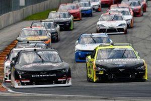 Michael Annett, JR Motorsports, Chevrolet Camaro Allstate Parts & Service Group and Austin Cindric, Team Penske, Ford Mustang Menards / Richmond