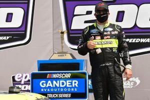 Matt Crafton, ThorSport Racing, Menards Ford F-150 celebrates his win