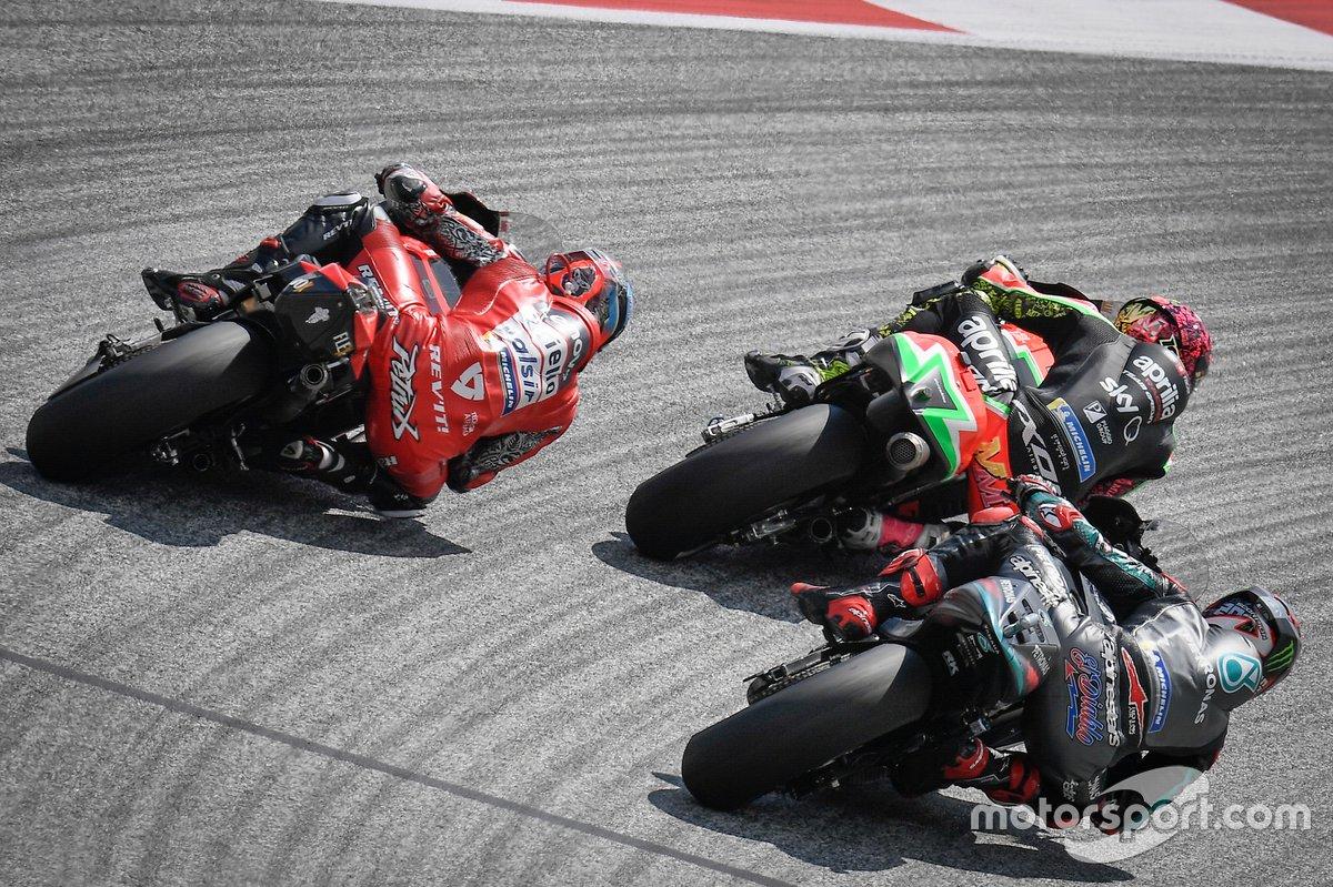Danilo Petrucci, Ducati Team, Fabio Quartararo, Petronas Yamaha SRT, Aleix Espargaro, Aprilia Racing Team Gresini