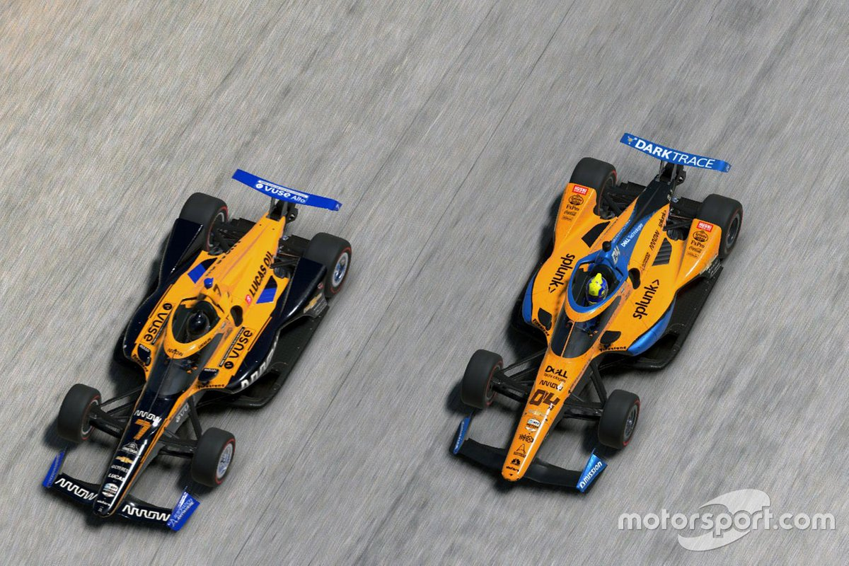 Lando Norris, Arrow McLaren SP, Oliver Askew, Arrow McLaren SP