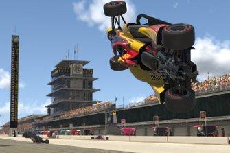 Ryan Hunter-Reay, Andretti Autosport, crash