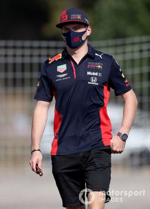 Max Verstappen, Red Bull Racing arrives at the track
