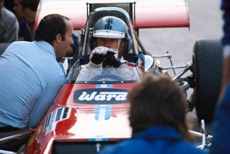 Piers Courage, De Tomaso 308 Ford, con Frank Williams