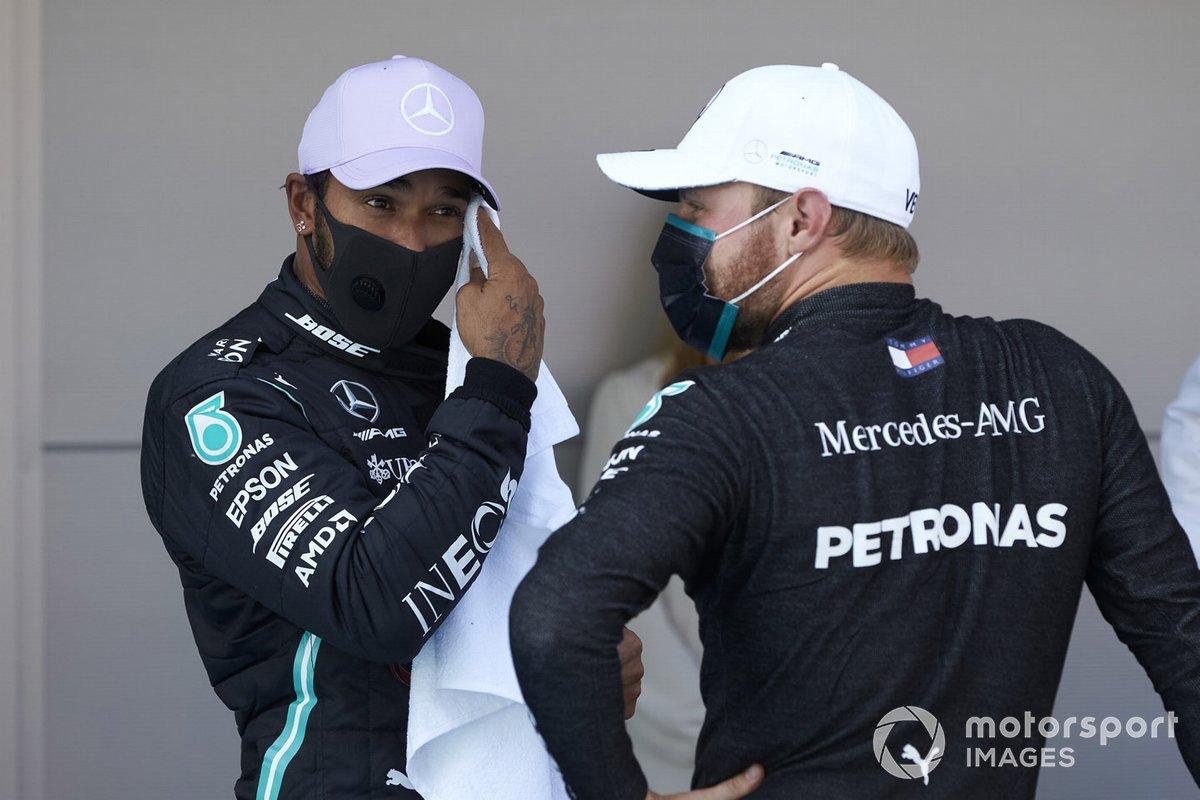 Lewis Hamilton, Mercedes-AMG Petronas F1, y Valtteri Bottas, Mercedes-AMG Petronas F1
