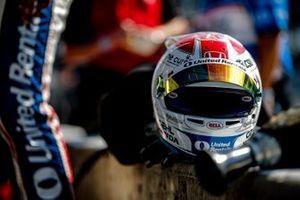 Graham Rahal, Rahal Letterman Lanigan Racing Honda, helmet