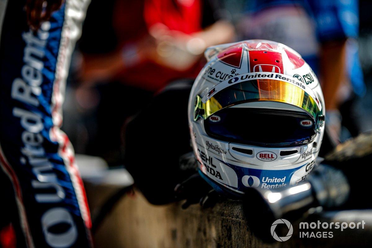 Casco de Graham Rahal, Rahal Letterman Lanigan Racing Honda
