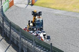 Car Of Max Fewtrell, Hitech Grand Prix being recovered
