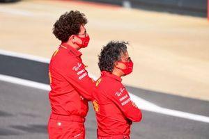 Mattia Binotto, Team Principal Ferrari, and Laurent Mekies, Sporting Director, Ferrari