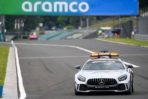 The Mercedes safety car