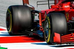 Il fondo della Ferrari SF1000, di Charles Leclerc