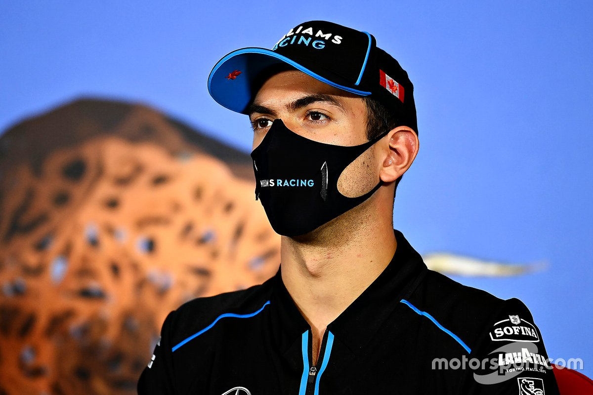 Nicholas Latifi, Williams Racing in the press conference