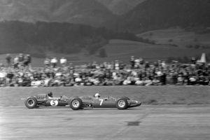 John Surtees, Ferrari 158, Dan Gurney, Brabham BT7