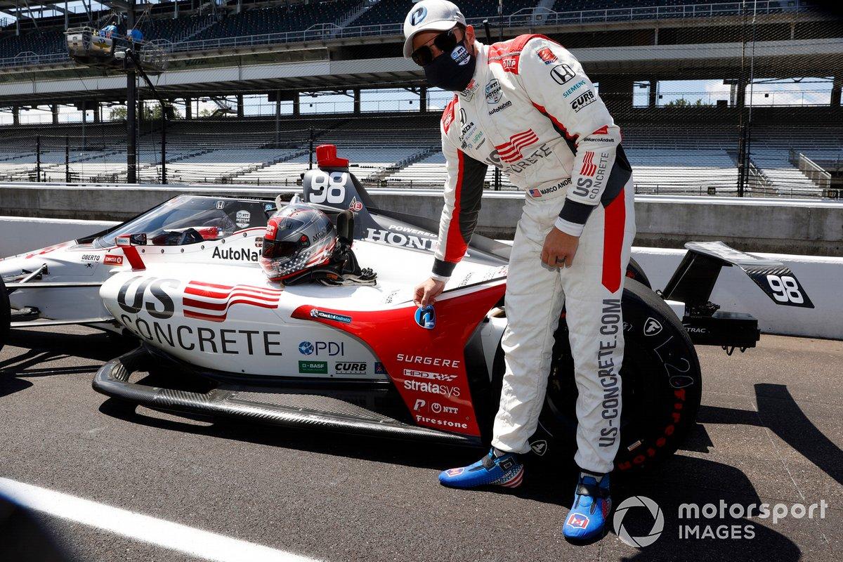 Marco Andretti, Andretti Herta with Marco & Curb-Agajanian Honda, NTT P1 Award pole man