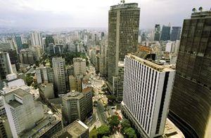 Los rascacielos de la zona comercial de Sao Paulo