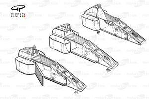 Ferrari 640/641/642 chassis evolution