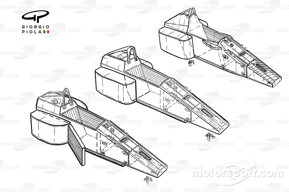 Ferrari 640/641/642, evolución del chasis