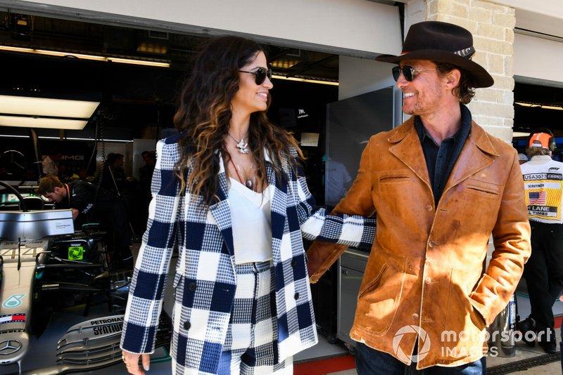 Matthew McConaughey and partner