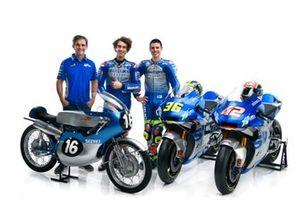 Joan Mir, Alex Rins, Team Suzuki MotoGP e Davide Brivio, Team manager Team Suzuki MotoGP