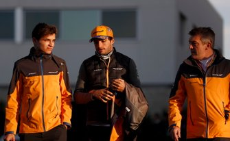 Lando Norris, McLaren, and Carlos Sainz Jr., McLaren