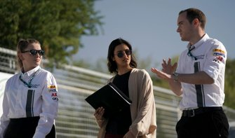 Reema Juffali, Jaguar VIP car on the track walk