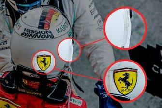 Шлем гонщика Ferrari Себастьяна Феттеля к Гран При Японии
