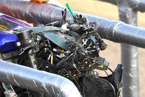 Valentino Rossi, Yamaha Factory Racing, moto danneggiata