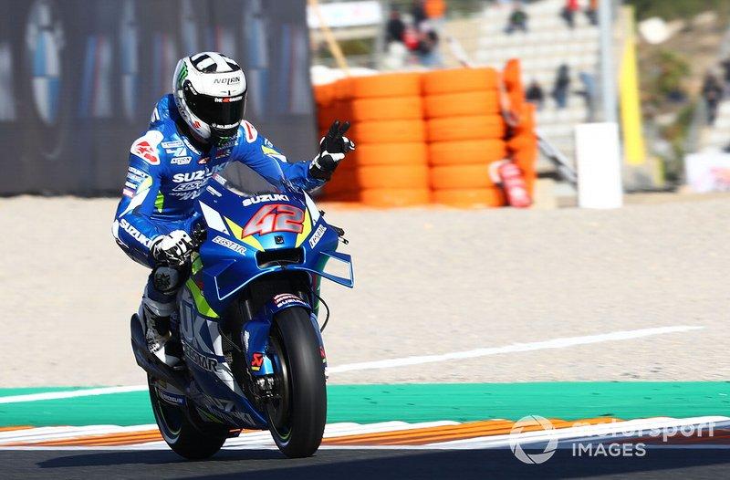 8º Alex Rins, Team Suzuki MotoGP (1:30.595)