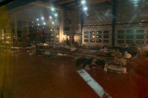 Размещение пострадавших от землетрясения на автодроме «Муджелло»