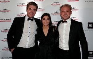 Jamie Chadwick and guests on arrival