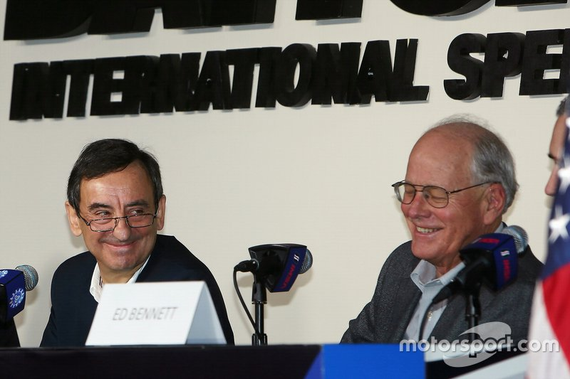 Pierre Fillon, ACO President, Ed Bennett, IMSA CEO