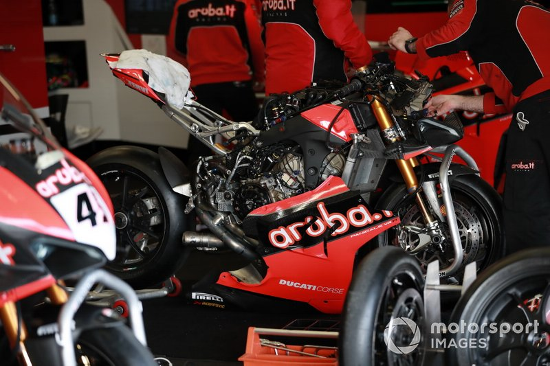 Motor van Chaz Davies, ARUBA.IT Racing Ducati