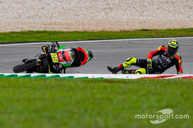Andrea Iannone, Aprilia Racing Team Gresini - 10 caídas