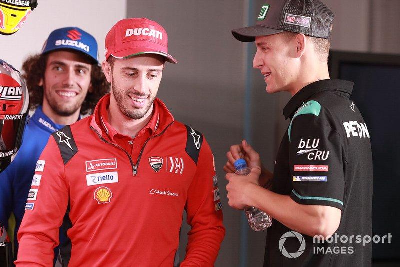 Andrea Dovizioso, Ducati Team, Fabio Quartararo, Petronas Yamaha SRT