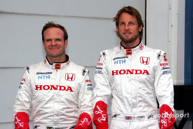 Rubens Barrichello et Jenson Button chez Honda