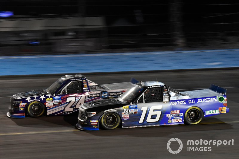 Brett Moffitt, GMS Racing, Chevrolet Silverado Plan B Sales, Austin Hill, Hattori Racing Enterprises, Toyota Tundra AISIN Group