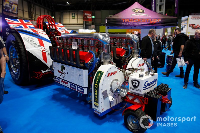A vehicle on display at the Autosport show