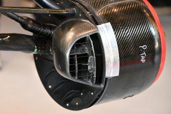 Remdetail op de Renault R.S.20 in de garage