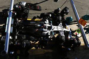 Valtteri Bottas, Mercedes F1 W11 in de pitlane