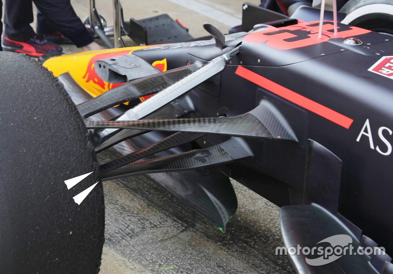 Detalle de la suspensión delantera del Red Bull Racing RB16