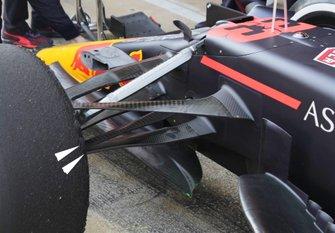 Red bull Racing RB16 voorwielophanging detail